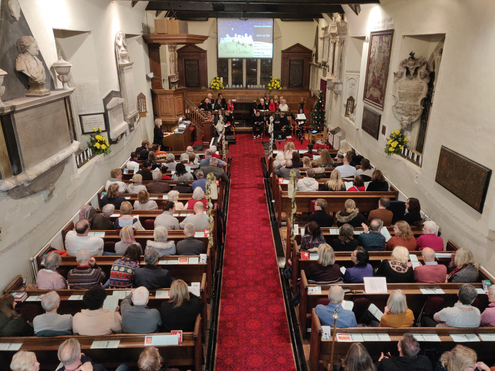 View of a service at St Lawrence